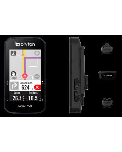 Bryton 750T, GPS, Kit con sensores de cadencia, velocidad y pulso