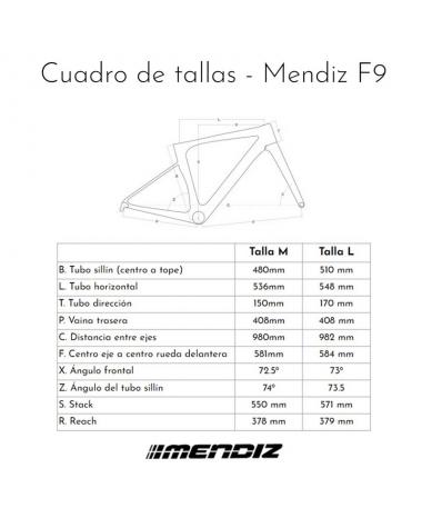 Bicicleta Mendiz F9, Shimano 105 hidráulico, talla 54cm